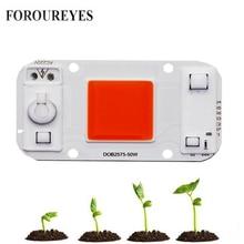 Светодиодный светильник для выращивания растений, переменный ток 220 В, 20 Вт, 30 Вт, 50 Вт, Cob чип, полный спектр, 370нм-780 нм, для комнатных растений, рост рассады и цветов