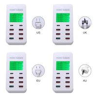 8 Port USB Quick Charger USB 3.0 Type C LCD Display Charging Smart Device for phone Power Supply