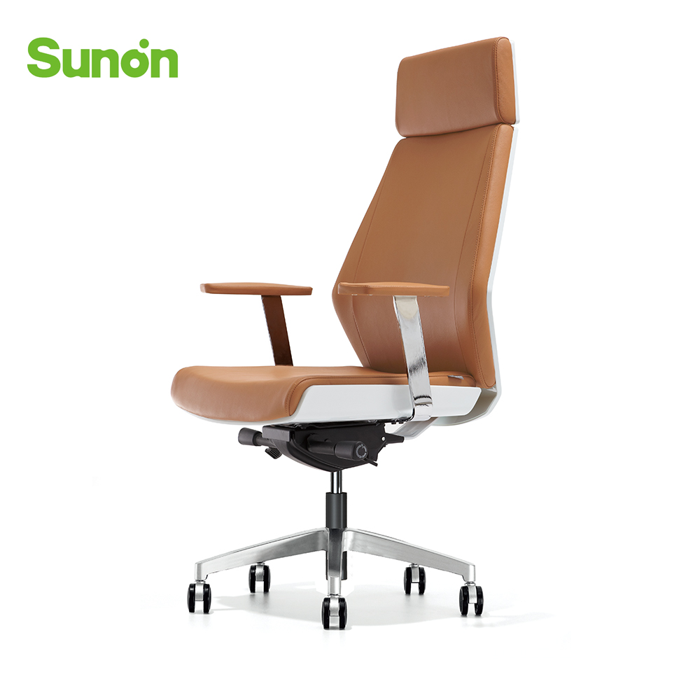 Ergonomic Genuine Leather Boss Chair High Quality Reclining Game Chair Swivel Computer Chairs For Internet Cafe