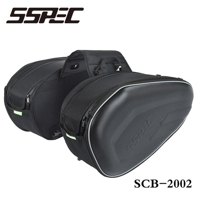 Carbon Fiber Motorcycle Saddle bag Saddlebags luggage Suitcase Motorbike Rear Seat Bag Saddle Bag with Waterproof Cover 18 29L