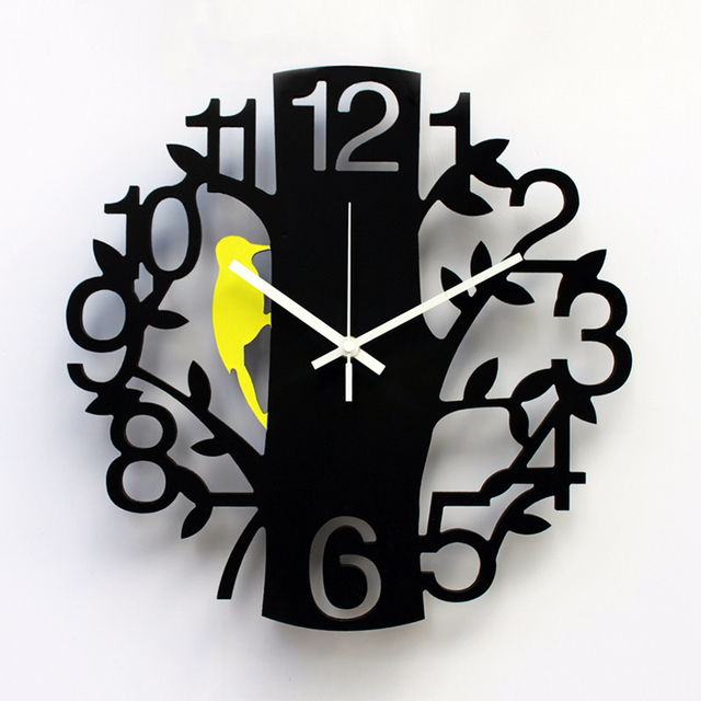 Kingart Child Digital Wall Clock Decorative Kids Room Cartoon Hanging Watch