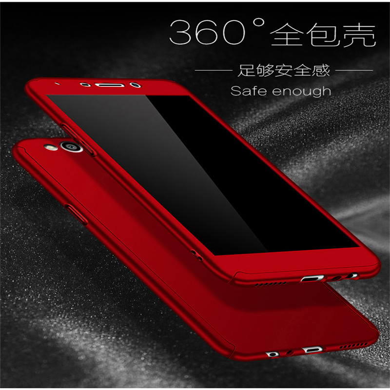 360 Full Protection PC Hard Cases For Huawei P8 Lite 2017 cover For Huawei Honor 8 Lite Matte Back Cover coque with Glass Film