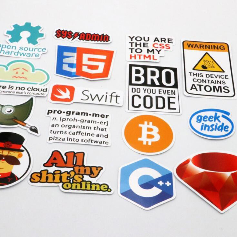 30 Pcs Java Internet JS Php Docker Bitcoin Html Cloud Programming Language APP Logo Funny Stickers for Laptop Car DIY Stickers