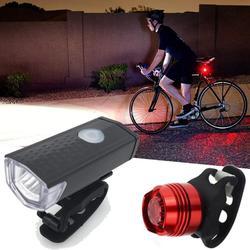 Супер Яркий USB светодиодный велосипед Водонепроницаемый Передний фонарь для велосипеда 3 режима света ремень Перезаряжаемые фара и задний ...
