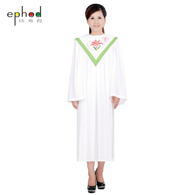 Christian Church Choir long gown Robes church clothing TIMELESS women Custom RT Clergy Robe Green white Custom Size-in Asia & Pacific Islands Clothing ...