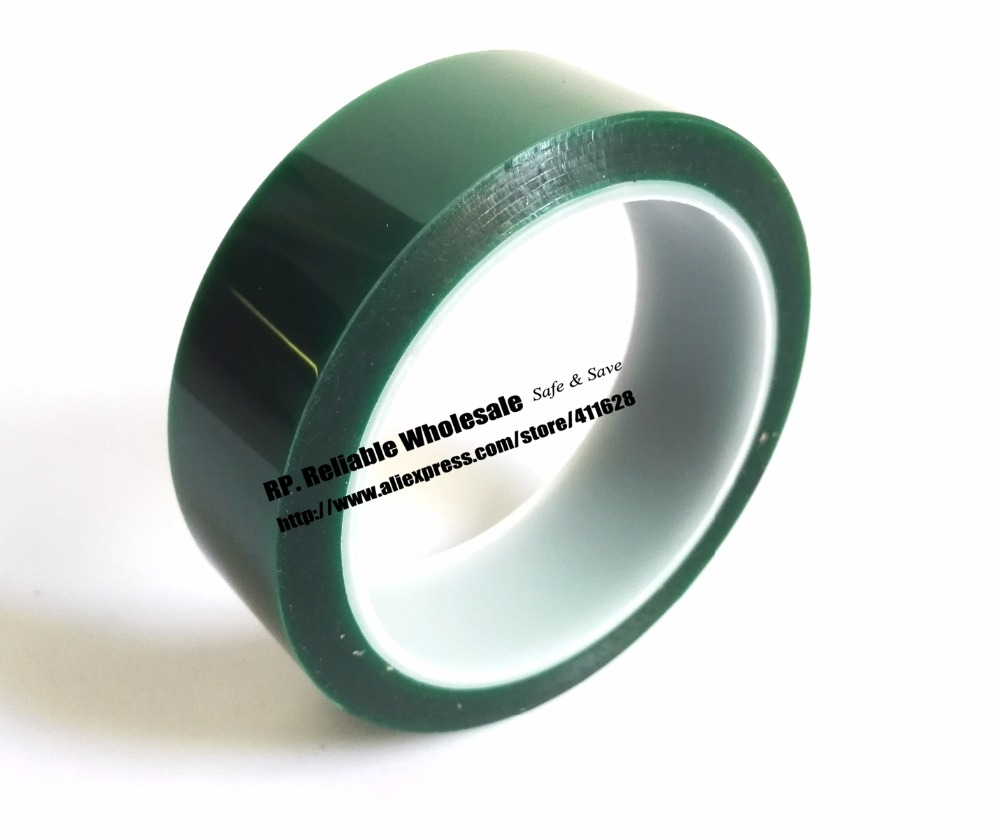 25mm*33 meters*0.08mm Single Sided Heat Resistant Adhesive PET Polyester Film Tape for Protection 70mm 33 meters 0 08mm single side heat