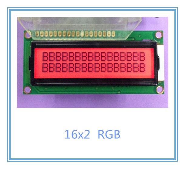Free shipping 2pcs LCD 1602A 16x2 lcd display module RGB color colour LED backlight LCM ADM1602K-FS(RGB)-FBW high quality