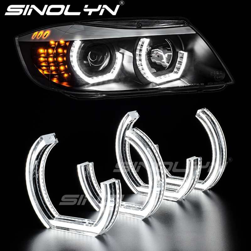 White Crystal U DTM Style LED Angel Eye Halo Rings For 3 Series F30 F31 12-17