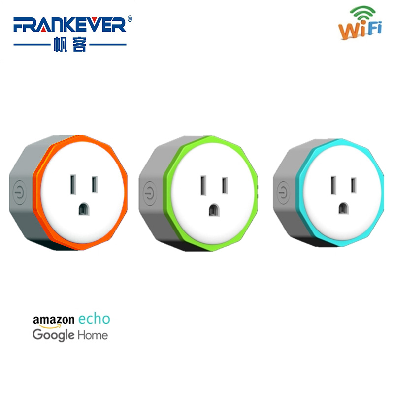 Frankever CE FCC ROHS Small Size US Standard Smart Plug WiFi Remote Control Work with Alexa Googlehome Home Automation FK-PW801