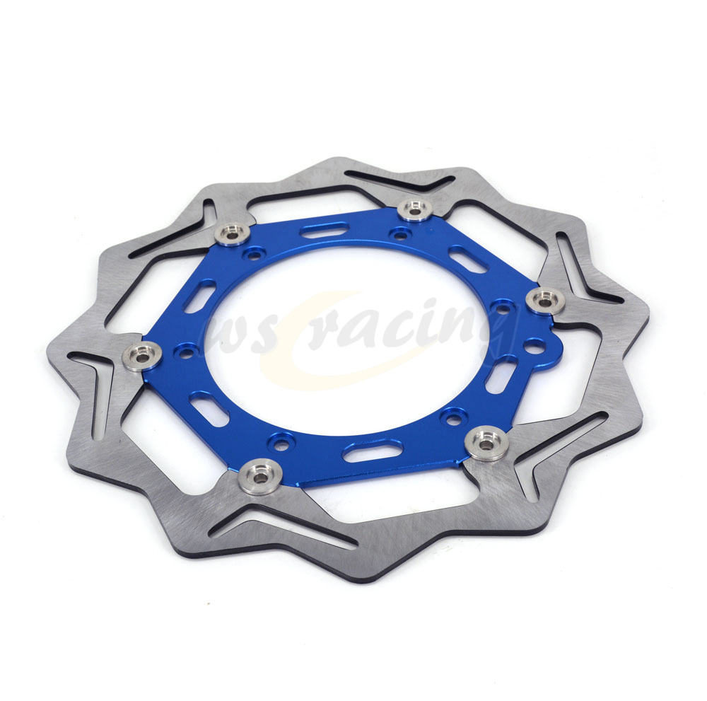 270MM Motorcycle Aluminum Front Wavy Floating Brake Disc Rotor For Husaberg FS400C FS400E FX450 FS650E FX650E FS650C 296mm motorcycle front wavy floating brake disc rotor for honda cbr600f4i cbr600f cb919f vtx1800 vtx1800f vtx1800n vtx1800t
