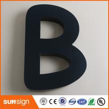 Malowane litery i znaki liter przestrzennych ze stali nierdzewnej lub aluminium tanie tanio shsuosai led sign letters 0012