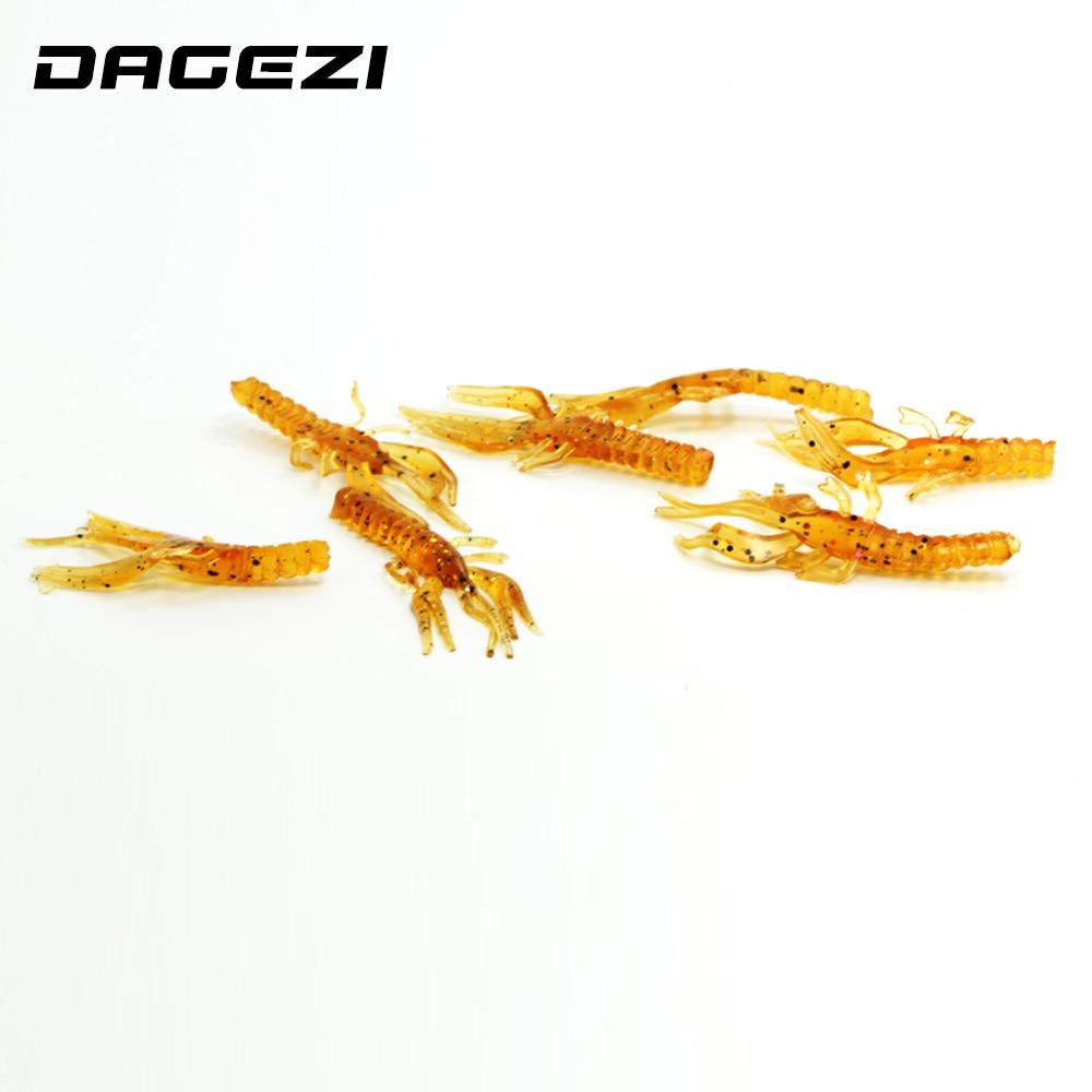 DAGEZI soft fishing lure fishing tackle soft baits Super strong shrimp lure Best Quality 5.5cm 15pcs/pack 73#