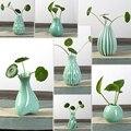 Imdoor decorar plantas Hidropônicas pequeno vaso de flor vaso de cerâmica moderna breve hidropônico garrafa flor Frete Grátis