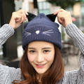 Winter Warm Crochet Knit Beanie Hats  Gorro Gorros De Lana Gorras  Cotton Winter Cap Casual Beanies Skullies