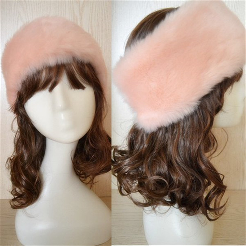 Women Winter Autumn Warm Snow Hat Fake Fur Novelty Solid Color Imitate Rabbit Fur Cap Beanie Lady Hat rabbit hair lady autumn winter new weaving small pineapple fur hat in winter to keep warm very nice and warm comfortable