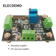 лучшая цена IV conversion amplifier voltage signal amplification photoelectric amplifier module current to voltage