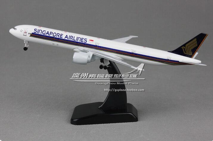 20cm Metal Alloy Plane Model Air Singapore Airlines Aircraft Airbus 777-300 ER Airways Airplane Model w Stand model aircraft