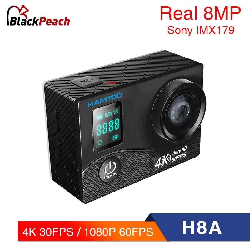 HAMTOD H8A 4 K 30pfs WiFi caméra d'action 2.0 pouces écran LCD 1080 P HD plongée étanche mini caméscope sport caméras