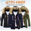 Бесплатная доставка 2016 мужская Теплый Пуховик Зеленый Зимнее Пальто Куртки Мужчины