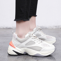 2019 New Spring/Summer Women Shoes Ulzzang Breathable Fashion Zapatos Mujer Sneakers Shoes High Heel Vulcanized Shoes Off White