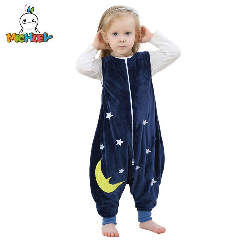 MICHLEY Saco Dorminhoco Do Bebê Crianças Outono Inverno Macacão de Flanela Cobertor Animal Bebê Criança Pijamas One Piece SP003 Cobertor Dorminhoco