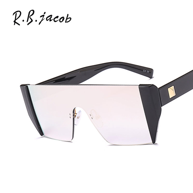 2017 Newest Goggle Oversize Women Sunglasses For Men Flat Top Hipster Leopard Clear Special Cool Lady Female Sun Glasses UV400