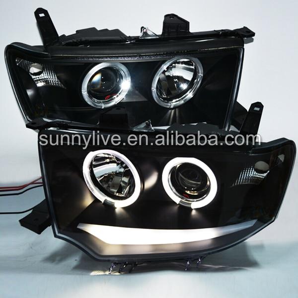 For Mitsubishi Pajero Sport  LED  Angel Eyes Head Lamp 2009-2013 year бачок гур pajero io владивосток