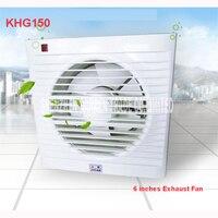 6 Inch Mini Wall Window Fan Bathroom Toilet Kitchen Exhaust Fans Exhaust Fan Installation Windows Panel size 200*200MM KHG 150