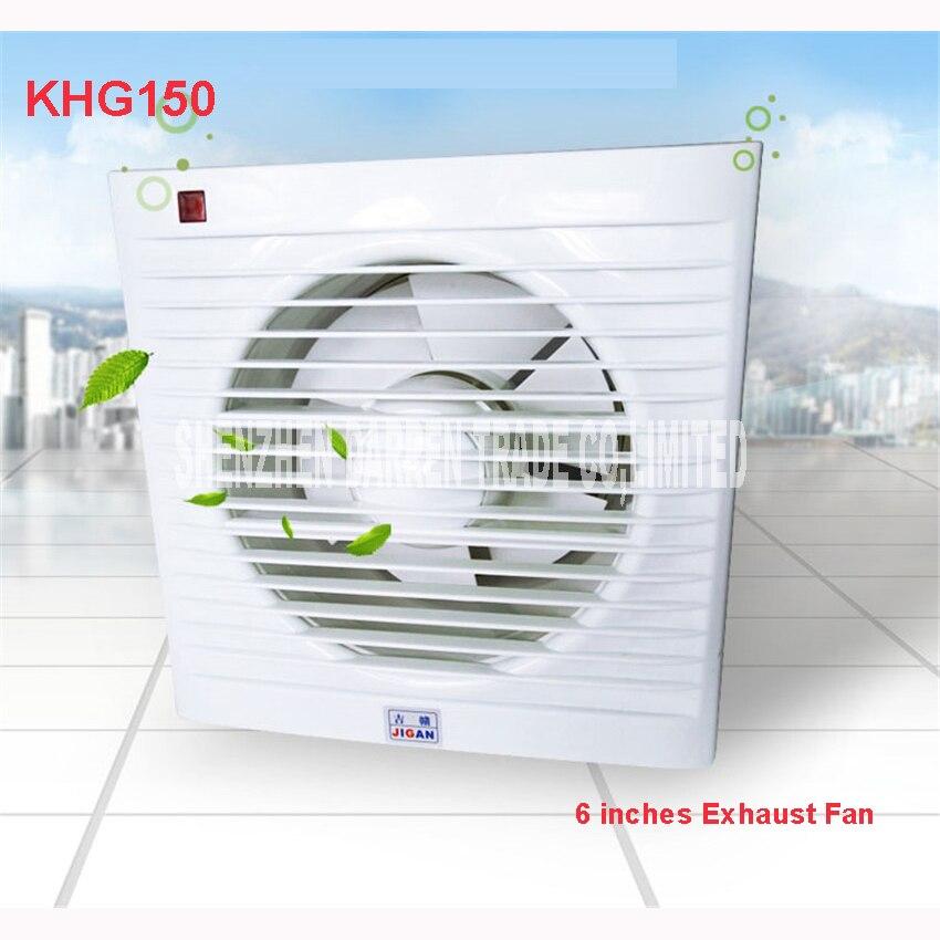 6 pouces Mini mur fenêtre ventilateur salle de bains toilette cuisine échappement ventilateurs d'échappement ventilateur Installation fenêtres panneau taille 200*200 MM KHG-150