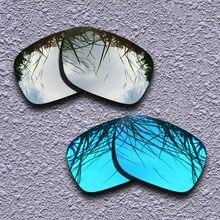 1e71c85391 De titanio de plata y azul polarizadas lentes Oakley Holbrook gafas de sol