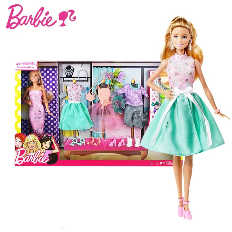 Barbie Gir Fashion Combo American Girll Creative Designer Superhero To Princess Animal Set Bonecas Barbie Doll