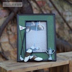 Image 4 - גולף כדור תיק מוט 3D שרף זיכרון מלאכות אישית רך נדנדות מסגרת תמונה מתנת יום הולדת הפרס עבור משחק מועדון מתנה