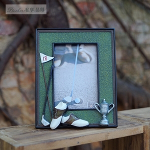 Image 4 - Golf ball bag rod 3D resin memorial crafts personalized soft swing sets photo frame birthday gift prize for game club gift
