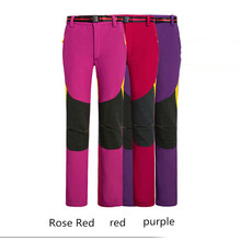 Free Shipping 2016 New Woman Hiking Pants Winter Autumn Waterproof Windproof Quick-Drying Warmth Ultralight Softshell Trousers