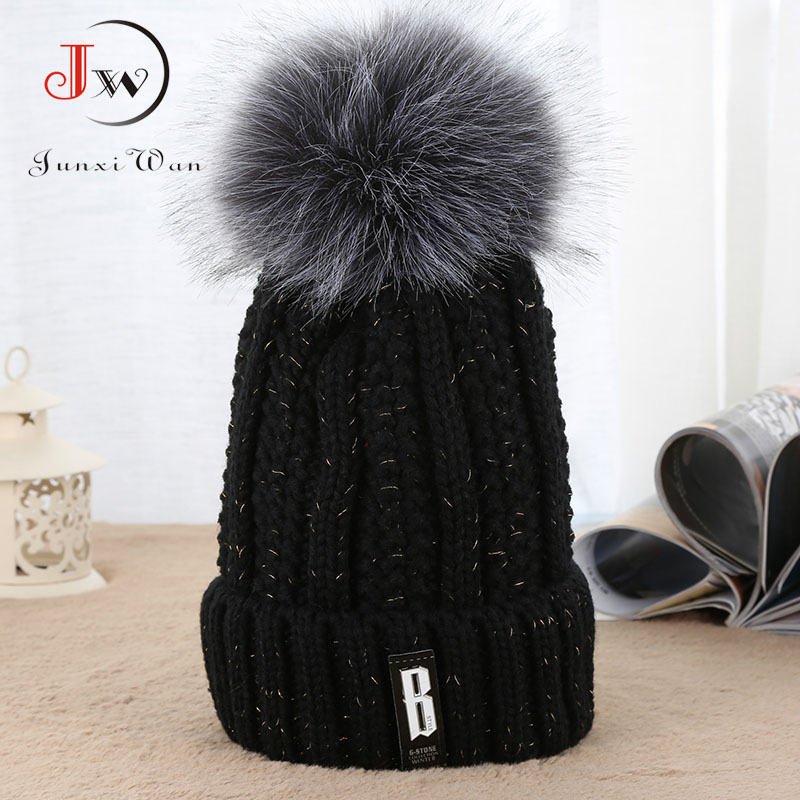 Women's Cap Beanie Knitted Hat Crochet Winter Hats For Women Female Cute Casual Fur Pompom Beanies bone masculino 2017 winter women beanie skullies men hiphop hats knitted hat baggy crochet cap bonnets femme en laine homme gorros de lana