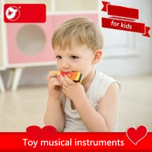 16 hole Wooden Educational Baby Kids harmonica teclado Musical Instruments Band Kit Children toddler toys
