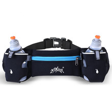 Men Women Sports Hydration Belt Bottle Holder Fanny Pack Marathon Running Reflective Adjustable Waist Belt Bag