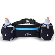 Men/Women Sports Hydration Belt Bottle Holder Fanny Pack Marathon Running Reflective Adjustable Waist Belt Bag