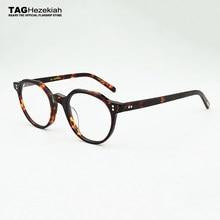 2e85573afeef0 Gafas redondas marco mujeres 2018 marca moda Retro ojos gafas marcos para  hombres miopía ordenador gafas ópticas