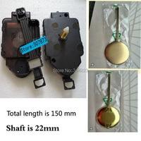 Wholesale! 1set Swing Movement Quartz Clock Movement for Clock Mechanism Repair DIY clock parts accessories 22mm Free shipping