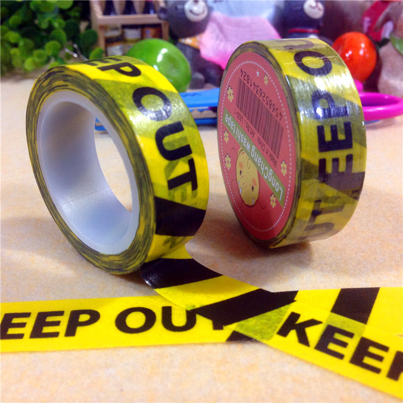 1.5cm*10m Keep out Washi Tape Quality Stationery Diy Scrapbooking Photo Album School Tools Kawaii Scrapbook Paper Stickers Gift