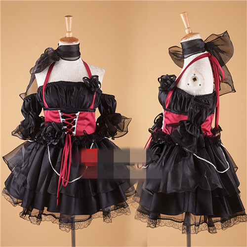New Clothing Organza Lolita Dress Night Party Red Black Cosplay Costume C
