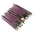 Función Completa 20 Unids púrpura Pinceles de Maquillaje profesional Set Kit Fundación Brush Tool Herramientas de Belleza