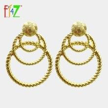 Fj4z трендовые женские серьги из сплава брендовые дизайнерские