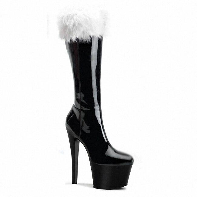 Mujeres Otoño Zapatos Tacones 01 2016 Sexy De 03 En Botas El 02 Pu Cuero Y La Manera Alta Invierno Suede Rxd1xqfZ