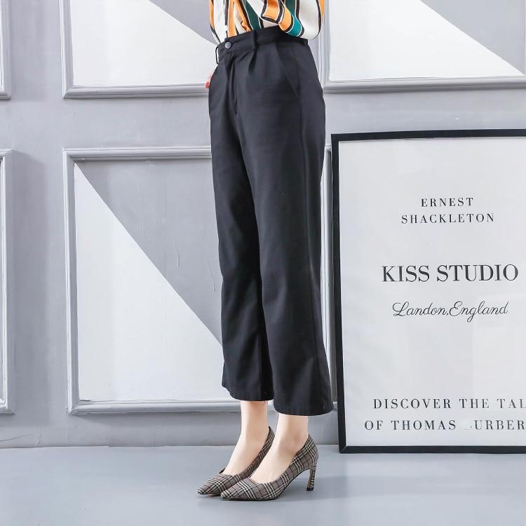 Hauts Chaussures Peu Khaki Simples Mode Talons Nouveau Stiletto Sauvage gris bleu Femmes De Plaid Coréen Pointu Color Printemps La Féminine 2019 Confortable Bouche Profonde qwxXWaRF
