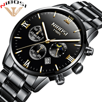 NIBOSI Luxury Watches Men Full Steel Band Clock Men Watch Men Sport Waterproof Watches Montre Homme 2018 Relogio Masculino Saat
