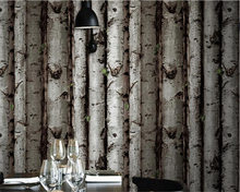 beibehang Modern Chinese pvc wallpaper individual wood stakes tree pattern tea baked bark back wall papel de parede wall paper 4 colors modern fashion wood pvc wateroof wallpaper papel de parede clothing store milk tea coffee bar derector wall paper roll
