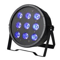 TSSLER UV DMX Par Işık 4 in 1 RGBUV Floresan Etkisi Mini 9 LEDs-Otomatik/Ses aktive Kontrollü LED Par Işık LED Ekran