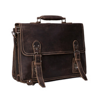 ROCKCOW Handmade Vintage Leather Briefcase Backpack Men Messenger Bag Laptop Bag 7161R